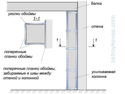 Усиление железобетонной колонны уголками стройматериалы плиты перекрытие