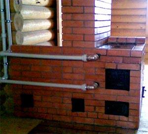 дровяная печь с водяным контуром