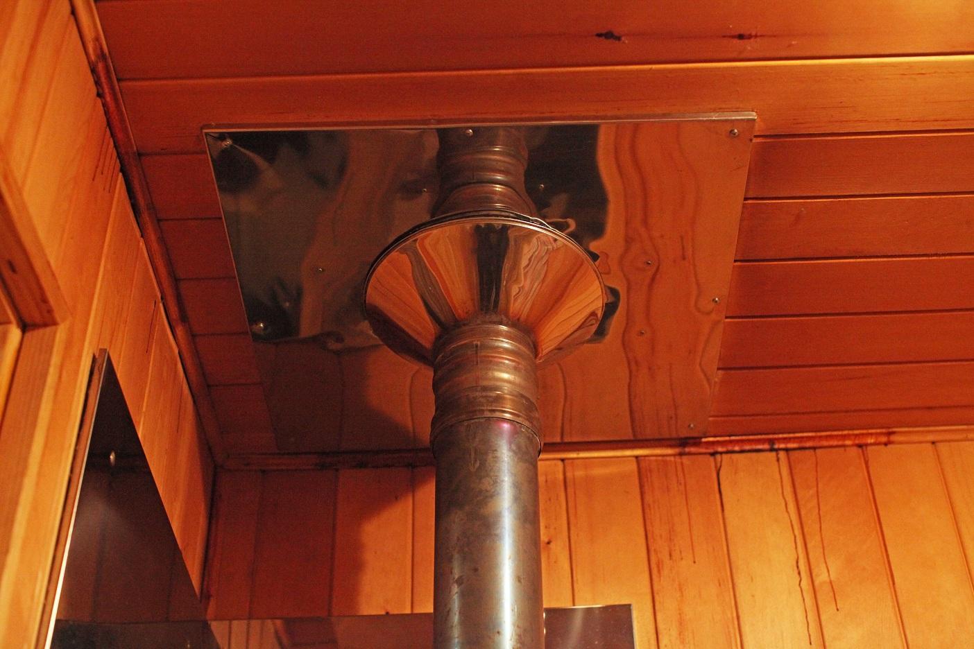установка печи в деревянном доме